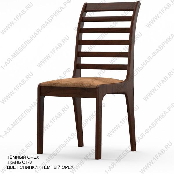 Банкетный стул Альфа с высокой спинкой, цвет Темный орех, мягкое сиденье.