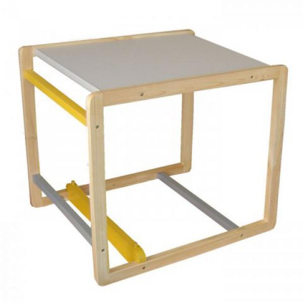 Да-да: из сибирской сосны, с красивой серенькой столешкой - стульчик для кормления в интернет магазине 1-й мебельной фабрики! Доставка!