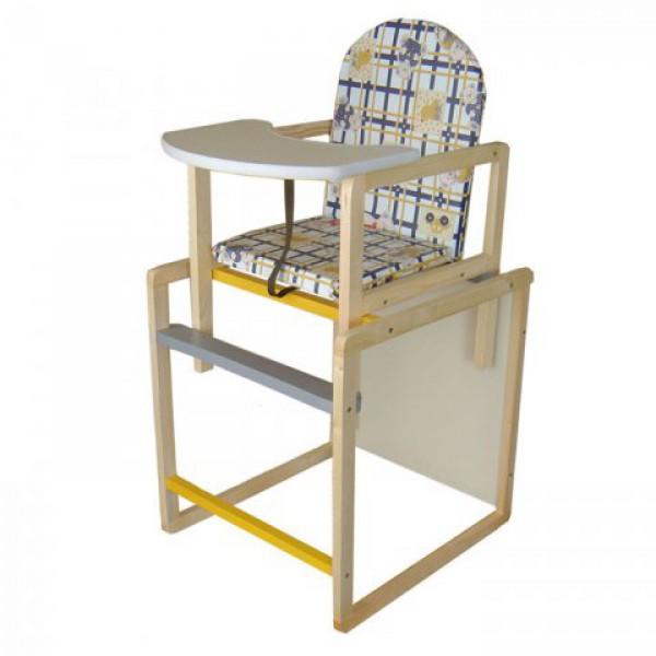 Самый сбалансированный дизайн среди самых недорогих стульчиков для кормления. Спокойные тона от фабрики производителя, без посредников!