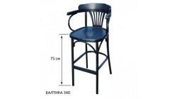 Барное кресло КМФ 305-2, Аполло, балтика (синий), 75 см.