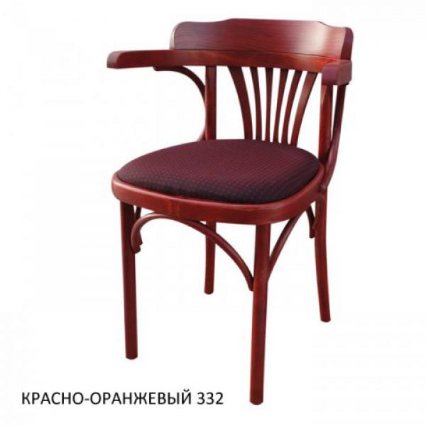 Венское кресло КМФ-120-01-2, Роза, красно-оранжевый