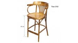 Барное кресло, КМФ 305–2, Аполло, с жестким сиденьем, 65 см