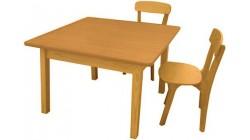 Стол Непоседа 700х700х520 мм (массив сосны, ЛДСП)