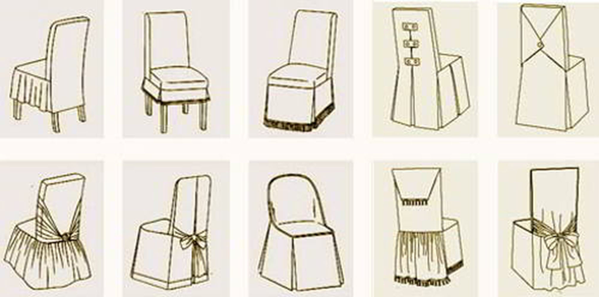 Накидки на стул своими руками фото
